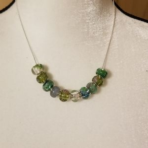 Murano Italian Glass Beaded Necklace